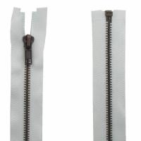 Fermeture Métal Bronze 80cm Blanc