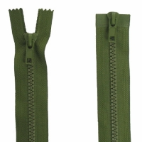 Fermeture  double curseur 55cm Vert armée