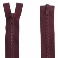 Fermeture  double curseur 75cm Bordeaux
