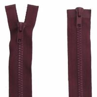 Fermeture  double curseur 80cm Bordeaux