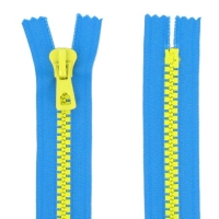 Fermeture bicolore injecté séparable 55cm