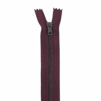 Fermeture pantalon métal 18cm Bordeaux