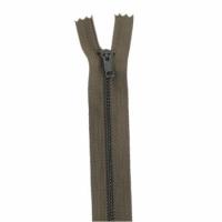 Fermeture pantalon métal 18cm Kaki