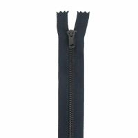 Fermeture pantalon métal 18cm Bleu Marine