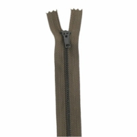 Fermeture pantalon métal 10cm Kaki