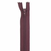 Fermeture pantalon 18cm Bordeaux Foncé