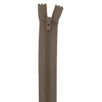 Fermeture pantalon 20cm Marron