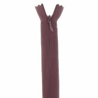 Fermeture invisible 40cm Bordeaux Foncé
