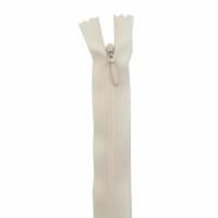 Fermeture invisible 40cm Blanc Cassé