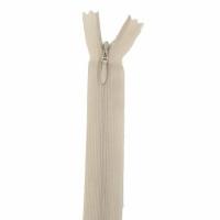 Fermeture invisible 22cm Beige Clair