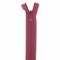 Fermeture invisible 22cm Bordeaux