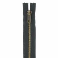 Fermeture jeans 18cm Noir