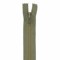 Fermeture jeans 18cm Kaki