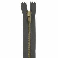 Fermeture jeans 5cm Marron Foncé