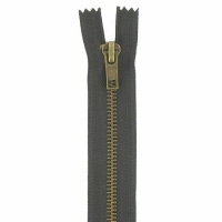 Fermeture jeans 12cm Marron Foncé