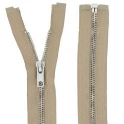 Fermeture Métal Argent 55cm beige