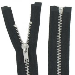 Fermeture Métal Argent 65cm noir